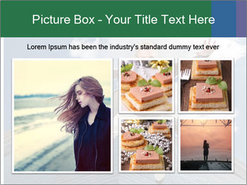 A woman falling PowerPoint Template - Slide 19