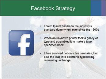 A woman falling PowerPoint Templates - Slide 6