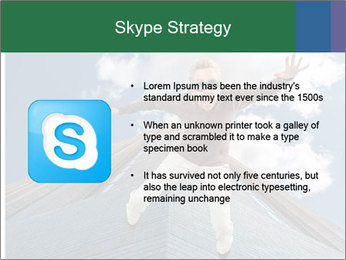 A woman falling PowerPoint Templates - Slide 8