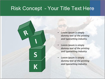 A woman falling PowerPoint Templates - Slide 81