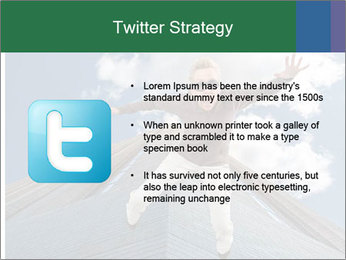 A woman falling PowerPoint Templates - Slide 9