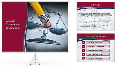 Injustice and discrimination as a concept for breaking the law PowerPoint Template