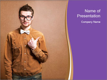 Hipster style PowerPoint Template