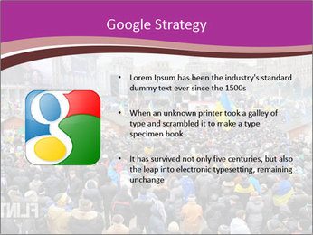 Independence square  proeuropean meeting on 2013 in Kiev, Ukraine. PowerPoint Templates - Slide 10