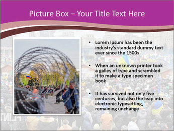 Independence square  proeuropean meeting on 2013 in Kiev, Ukraine. PowerPoint Template - Slide 13