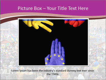Independence square  proeuropean meeting on 2013 in Kiev, Ukraine. PowerPoint Templates - Slide 15