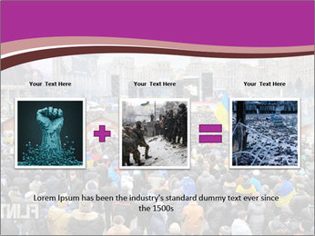 Independence square  proeuropean meeting on 2013 in Kiev, Ukraine. PowerPoint Templates - Slide 22