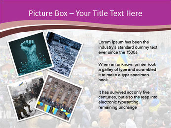 Independence square  proeuropean meeting on 2013 in Kiev, Ukraine. PowerPoint Templates - Slide 23