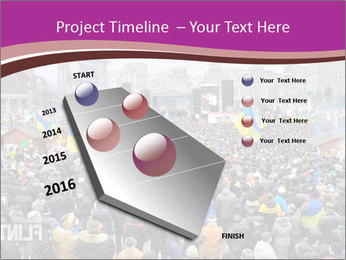 Independence square  proeuropean meeting on 2013 in Kiev, Ukraine. PowerPoint Templates - Slide 26