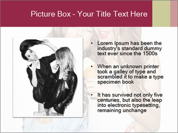 Pretty brunette girls PowerPoint Template - Slide 13