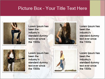 Pretty brunette girls PowerPoint Template - Slide 14