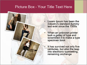 Pretty brunette girls PowerPoint Template - Slide 17