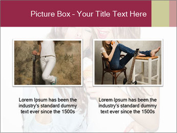 Pretty brunette girls PowerPoint Template - Slide 18