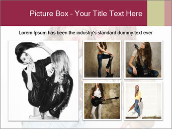 Pretty brunette girls PowerPoint Template - Slide 19