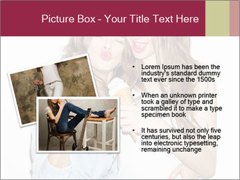 Pretty brunette girls PowerPoint Template - Slide 20