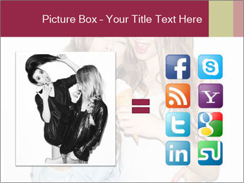 Pretty brunette girls PowerPoint Template - Slide 21