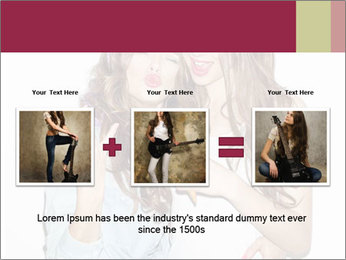 Pretty brunette girls PowerPoint Template - Slide 22