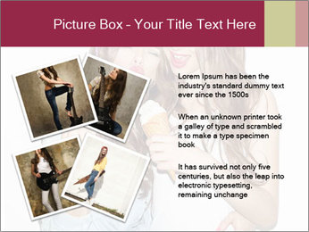 Pretty brunette girls PowerPoint Template - Slide 23
