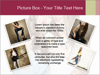 Pretty brunette girls PowerPoint Template - Slide 24