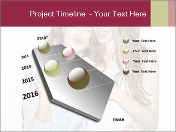 Pretty brunette girls PowerPoint Template - Slide 26