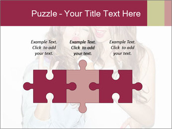 Pretty brunette girls PowerPoint Template - Slide 42
