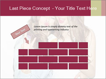Pretty brunette girls PowerPoint Template - Slide 46