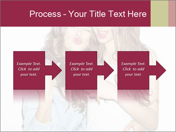 Pretty brunette girls PowerPoint Template - Slide 88