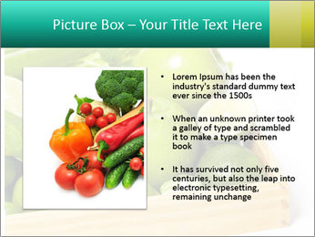 Fresh green vegetables and fruits PowerPoint Template - Slide 13