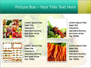 Fresh green vegetables and fruits PowerPoint Template - Slide 14