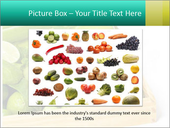 Fresh green vegetables and fruits PowerPoint Template - Slide 15