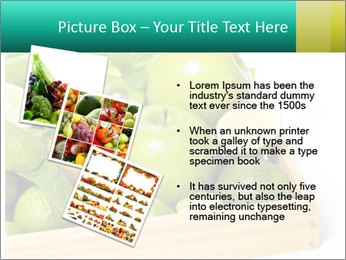 Fresh green vegetables and fruits PowerPoint Template - Slide 17