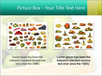 Fresh green vegetables and fruits PowerPoint Templates - Slide 18