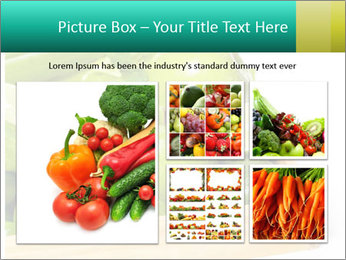 Fresh green vegetables and fruits PowerPoint Template - Slide 19