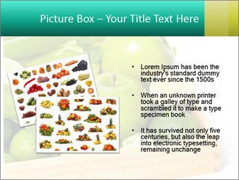 Fresh green vegetables and fruits PowerPoint Template - Slide 20