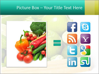 Fresh green vegetables and fruits PowerPoint Template - Slide 21