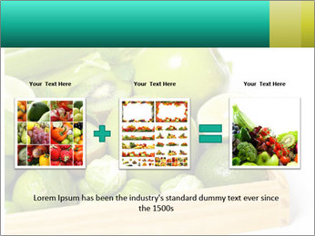 Fresh green vegetables and fruits PowerPoint Template - Slide 22