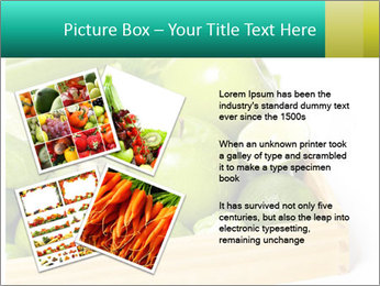 Fresh green vegetables and fruits PowerPoint Template - Slide 23