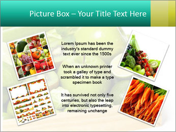 Fresh green vegetables and fruits PowerPoint Template - Slide 24