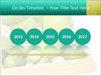 Fresh green vegetables and fruits PowerPoint Template - Slide 29
