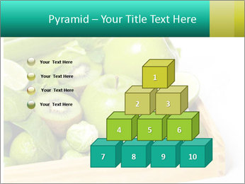 Fresh green vegetables and fruits PowerPoint Template - Slide 31