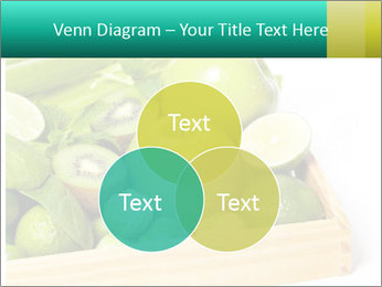 Fresh green vegetables and fruits PowerPoint Template - Slide 33