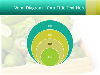 Fresh green vegetables and fruits PowerPoint Template - Slide 34