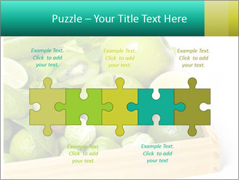 Fresh green vegetables and fruits PowerPoint Templates - Slide 41
