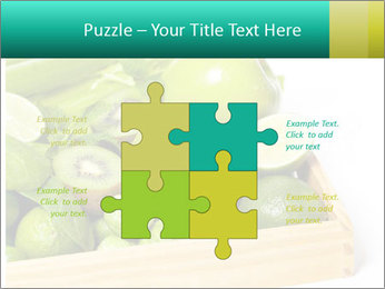 Fresh green vegetables and fruits PowerPoint Templates - Slide 43