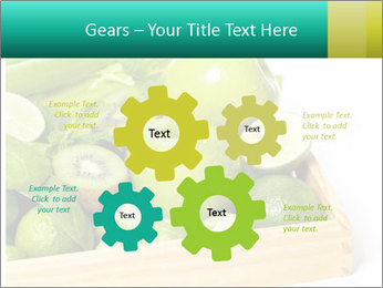 Fresh green vegetables and fruits PowerPoint Templates - Slide 47