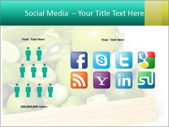 Fresh green vegetables and fruits PowerPoint Templates - Slide 5