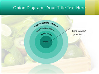 Fresh green vegetables and fruits PowerPoint Templates - Slide 61