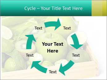 Fresh green vegetables and fruits PowerPoint Template - Slide 62