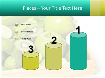 Fresh green vegetables and fruits PowerPoint Templates - Slide 65