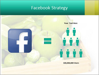 Fresh green vegetables and fruits PowerPoint Templates - Slide 7